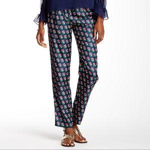 DVF Zen Flora Midnight Silk Pants (Altered)